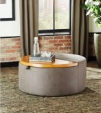Coaster Las Vegas Grey Ottoman Available Online in Dallas Fort Worth Texas