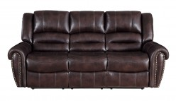 Center Hill Dark Brown Double Reclining Sofa Available Online in Dallas Fort Worth Texas