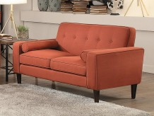 Homelegance Corso Orange Loveseat Available Online in Dallas Fort Worth Texas