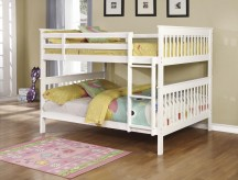 Chapman White Full/Full Bunk Bed Available Online in Dallas Fort Worth Texas