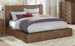 Korlan Brown Oak King Platform Bed Available Online in Dallas Fort Worth Texas