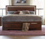 Ingrando Walnut King Bed Available Online in Dallas Fort Worth Texas