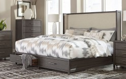 Homelegance Fondren Grey King Bed Available Online in Dallas Fort Worth Texas