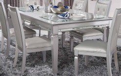 Homelegance Allura Silver Dinin... Available Online in Dallas Fort Worth Texas