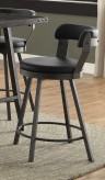 Appert Black Swivel Counter Height Chair Available Online in Dallas Fort Worth Texas