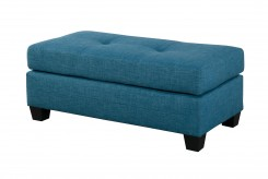 Homelegance Phelps Blue Ottoman Available Online in Dallas Fort Worth Texas