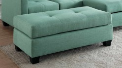 Homelegance Phelps Teal Ottoman Available Online in Dallas Fort Worth Texas