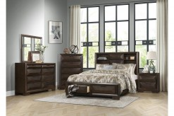 Chesky 5pc Espresso Queen Bedroom Group Available Online in Dallas Fort Worth Texas