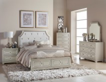 Libretto 5pc Grey Platform King Bedroom Group Available Online in Dallas Fort Worth Texas
