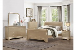 Abbeville 5pc Gold King Bedroom Group Available Online in Dallas Fort Worth Texas