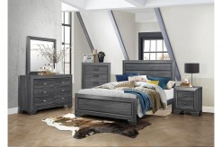 Beechnut 5pc Grey King Bedroom Group Available Online in Dallas Fort Worth Texas