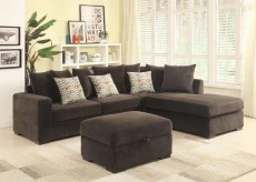 Coaster Olson Chocolate Sectional Available Online in Dallas Fort Worth Texas