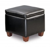 San Martin Black Storage Cube Ottoman Available Online in Dallas Fort Worth Texas