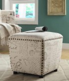 Coaster French Script Ottoman Available Online in Dallas Fort Worth Texas