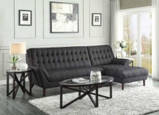 Natalia Black 2pc Sectional Available Online in Dallas Texas