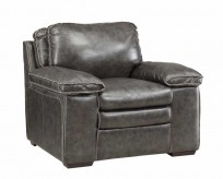 Regalvale Charcoal Leather Chair Available Online in Dallas Texas