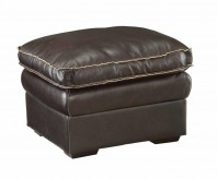 Regalvale Brown Leather Ottoman Available Online in Dallas Texas