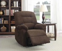 Coaster Mackenzie Chocolate Power Lift Recliner Available Online in Dallas Fort Worth Texas