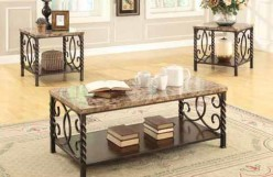 Coaster Twisted 3pc Coffee Table Set Available Online in Dallas Fort Worth Texas