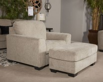 Ashley Parlston Alloy Ottoman Available Online in Dallas Fort Worth Texas