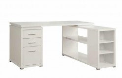 Yvette White L-Shape Desk Available Online in Dallas Fort Worth Texas