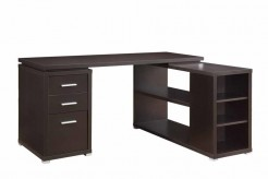 Yvette Cappuccino L-Shape Desk Available Online in Dallas Fort Worth Texas
