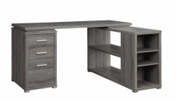 Yvette Grey L-Shape Desk Available Online in Dallas Fort Worth Texas