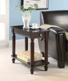 Coaster Tiffany Cappuccino Chairside Table Available Online in Dallas Fort Worth Texas