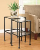 Coaster Fiore 2pc Glass and Metal Nesting Table Available Online in Dallas Fort Worth Texas