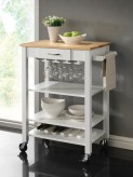 Coaster Kitchen Carts White/Nat... Available Online in Dallas Fort Worth Texas