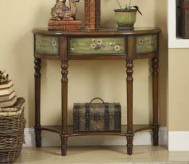 Antique Green Accent Table Available Online in Dallas Texas