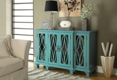 Coaster Vintage Classic Teal Accent Cabinet Available Online in Dallas Fort Worth Texas