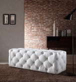 Divani Casa Maria White Crystals Bench Available Online in Dallas Fort Worth Texas