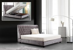 Dane Tufted Fabric Bed With Lift Storage Available Online in Dallas Fort Worth Texas