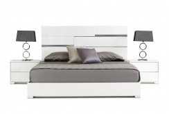VIG Ancona White Bed Available Online in Dallas Fort Worth Texas