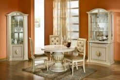 Modrest Rossella Beige Round Extendable Dining Table Available Online in Dallas Fort Worth Texas