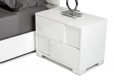 Monza White Nightstand Available Online in Dallas Fort Worth Texas