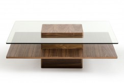 VIG Clarion Walnut And Glass Co... Available Online in Dallas Fort Worth Texas