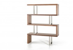 VIG Maze Walnut Bookcase Available Online in Dallas Fort Worth Texas