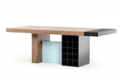 VIG Aegean Walnut And Teal Dining Table Available Online in Dallas Fort Worth Texas