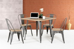 VIG Modrest T Grey Metal And Wood Square Dining Table Available Online in Dallas Fort Worth Texas
