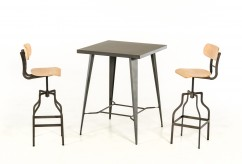 VIG Thomas Grey Square Bar Table Available Online in Dallas Fort Worth Texas