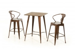 VIG Benz Copper & Wood Bar Table Available Online in Dallas Fort Worth Texas