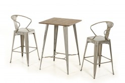 VIG Benz Steel & Wood Bar Table Available Online in Dallas Fort Worth Texas