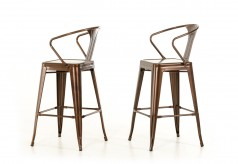 Ned Copper Bar Stool Available Online in Dallas Fort Worth Texas