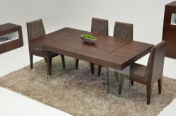 VIG Modrest Aura Floating Tobacco Dining Table Available Online in Dallas Fort Worth Texas