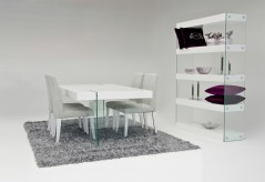 VIG Aura White Floating Dining Table Available Online in Dallas Fort Worth Texas