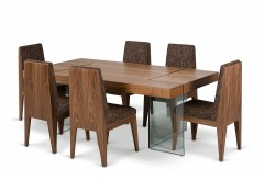 VIG Aura Walnut Floating Dining Table Available Online in Dallas Fort Worth Texas