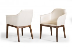 Ryder Cream & Walnut Dining Chair Available Online in Dallas Fort Worth Texas
