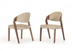 Arlo Grey & Walnut Dining Chair Available Online in Dallas Fort Worth Texas